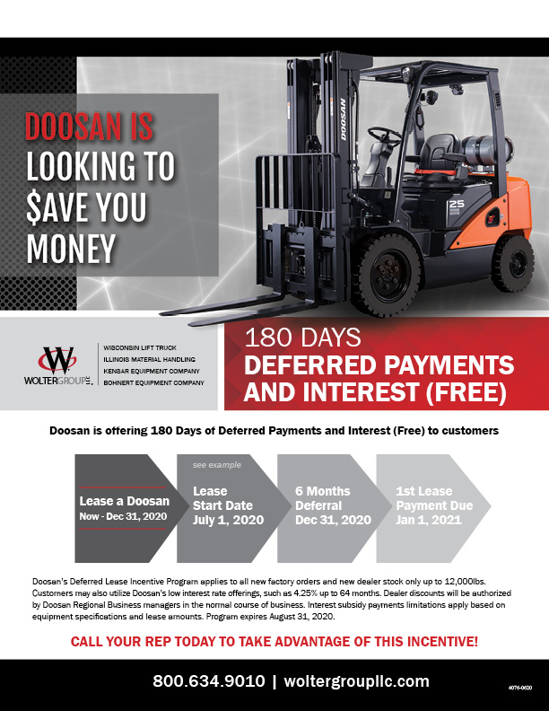 Doosan Deferred Payment Flyer from Wolter Group